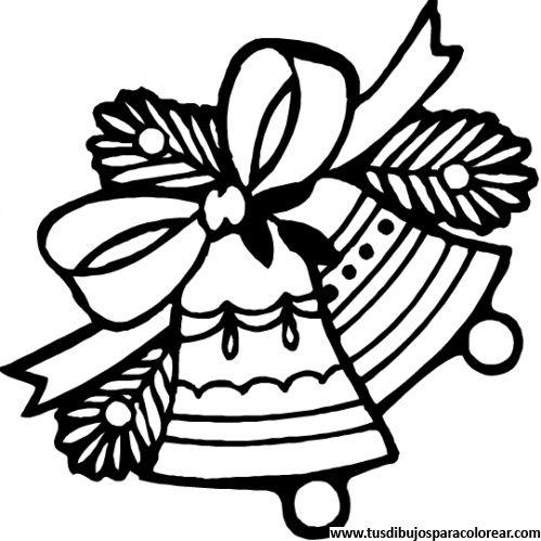 Dibujos para colorear de campanas navide as dibujos para - Campanas de navidad ...