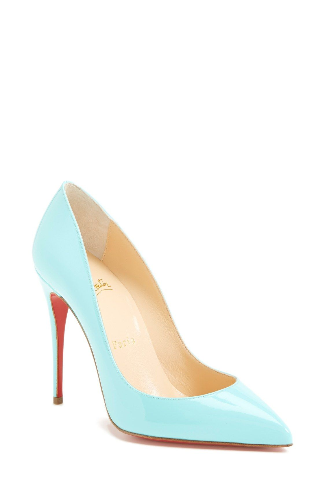 9b6dea84168 Oh, so beautiful | Light blue Christian Louboutin pumps. | Our ...
