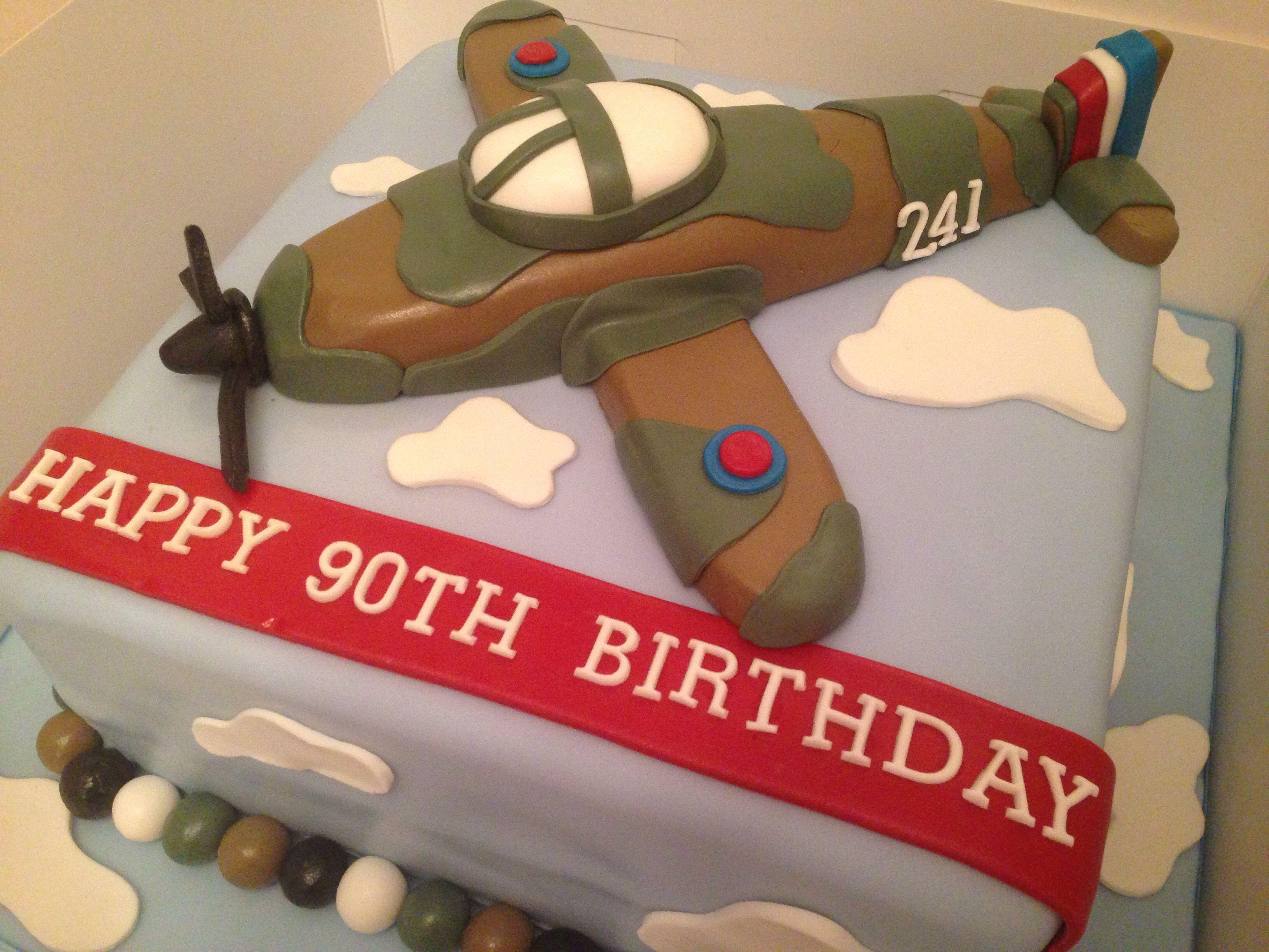 90th Birthday Cake Airplane cake Vintage plane cake Adult cakes