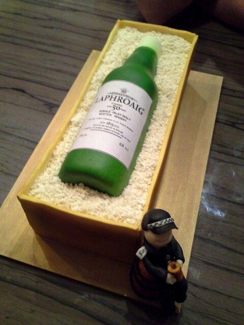 Whisky Bottle Cake All About Cakes Pinterest Bottle Cake