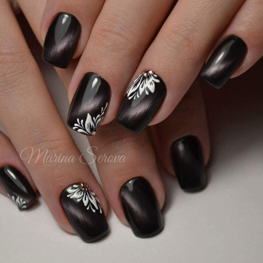 Pin by Dana on Манікюр | Pinterest | Manicure, Black white nails and ...