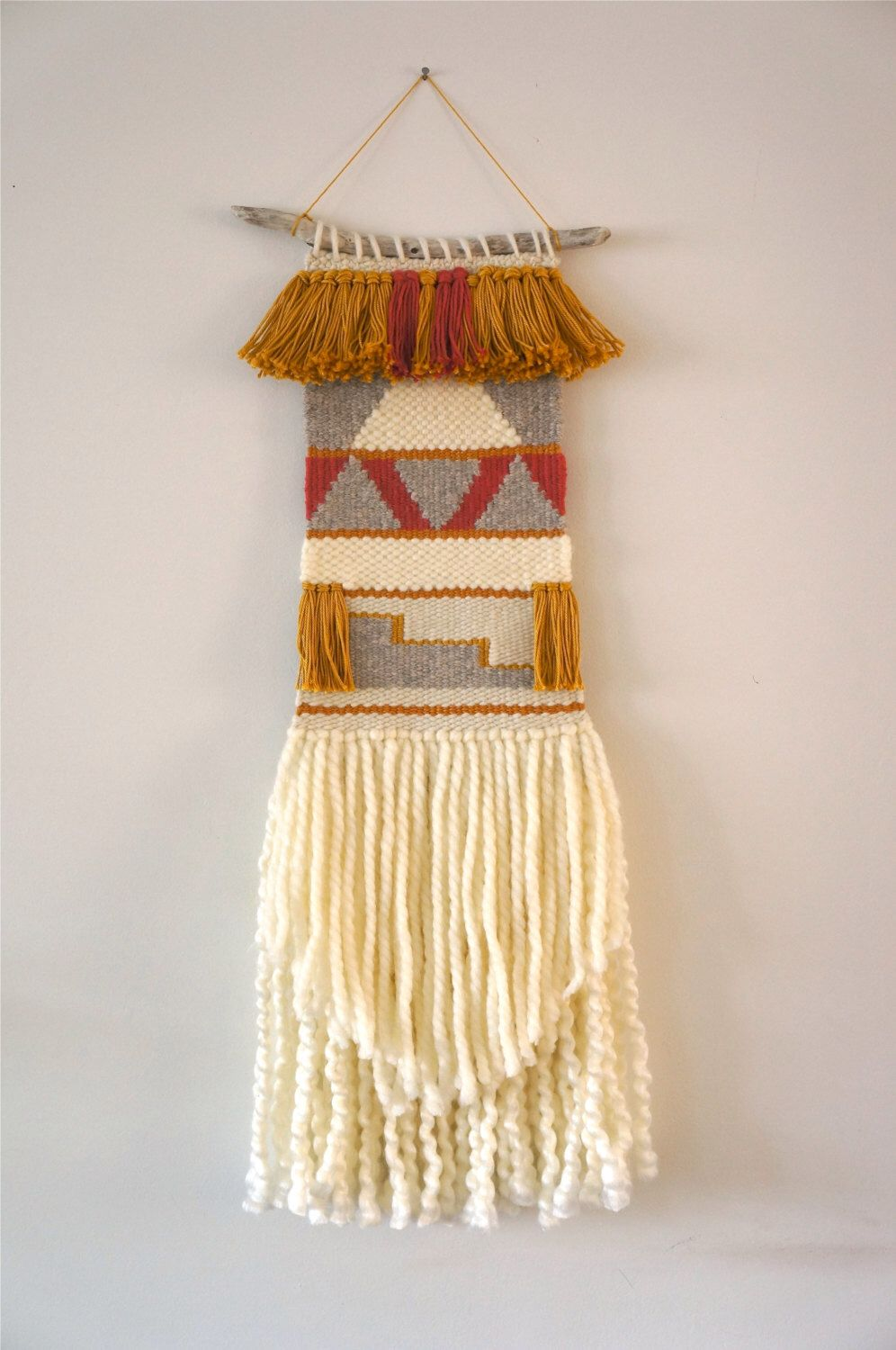 Woven wall hanging / tapestry /weaving / \