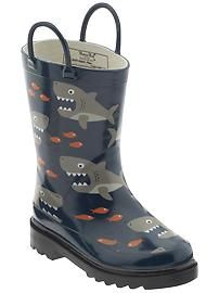 "Lil man is an avid aquarium fan..def would love these shark theme rain boots...these are Western Chief ""Shark Attack"" on piperlime.com...."