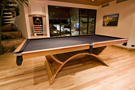 Custom Pool Tables | Custom Built Quedos Eclipse Pool Table.