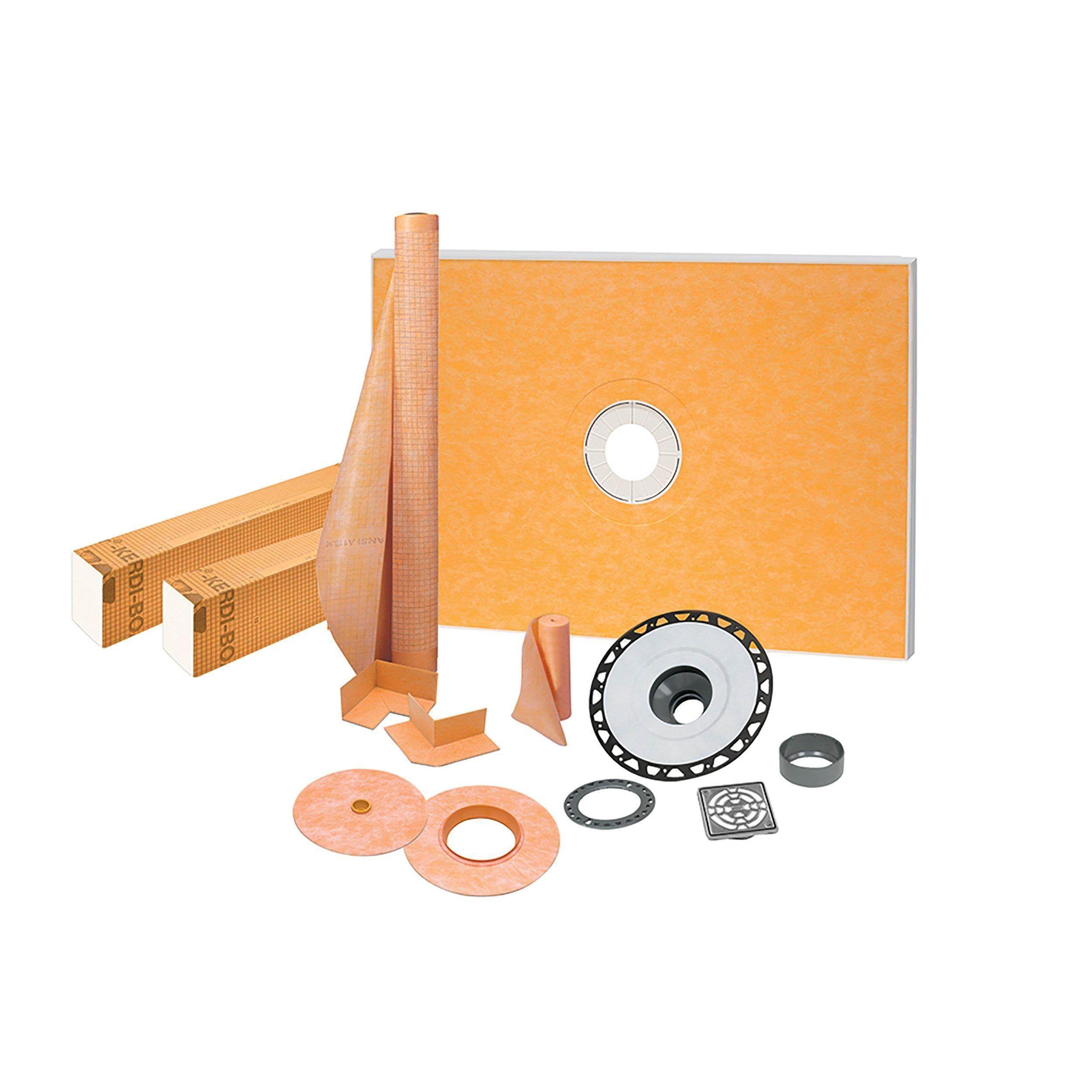 Floor Decor Schluter Kerdi Shower Kit 38 Inch X 60 Inch Abs