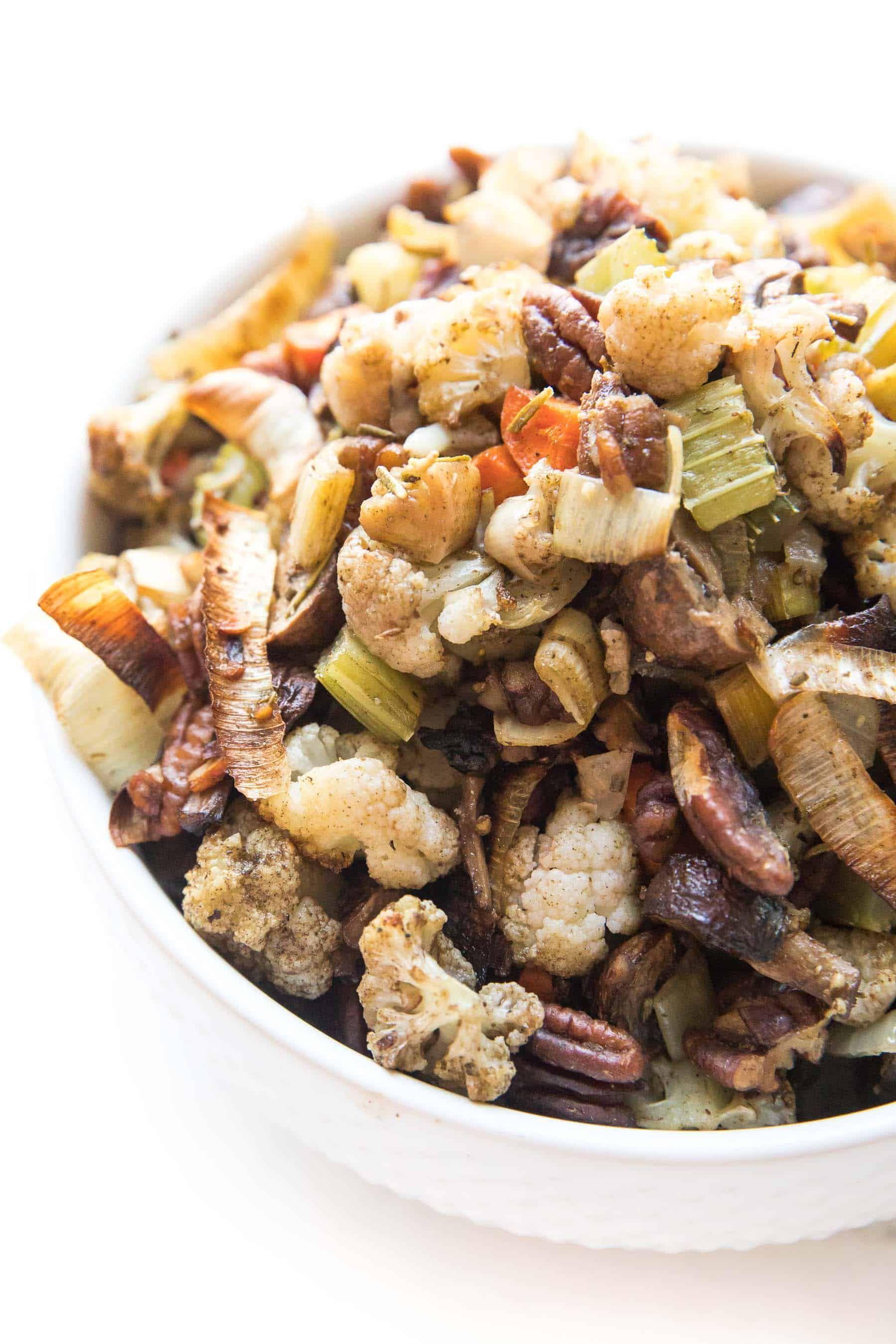 Whole30 Keto Cauliflower Stuffing Recipe Video A Low Carb No
