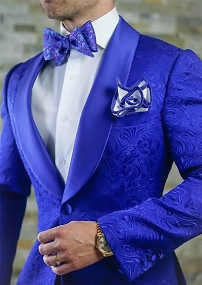 Groomsmen Pattern Groom Tuxedos Shawl Hot Pink Lapel Men Suits 2 Pieces Wedding Best Man Bridegroom ( Jacket+Pants+Tie ) C590 #men'ssuits
