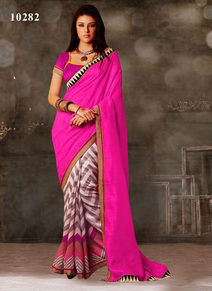 Wedding Partywear Pakistani Ethnic Sari Dress Bollywood Saree ...