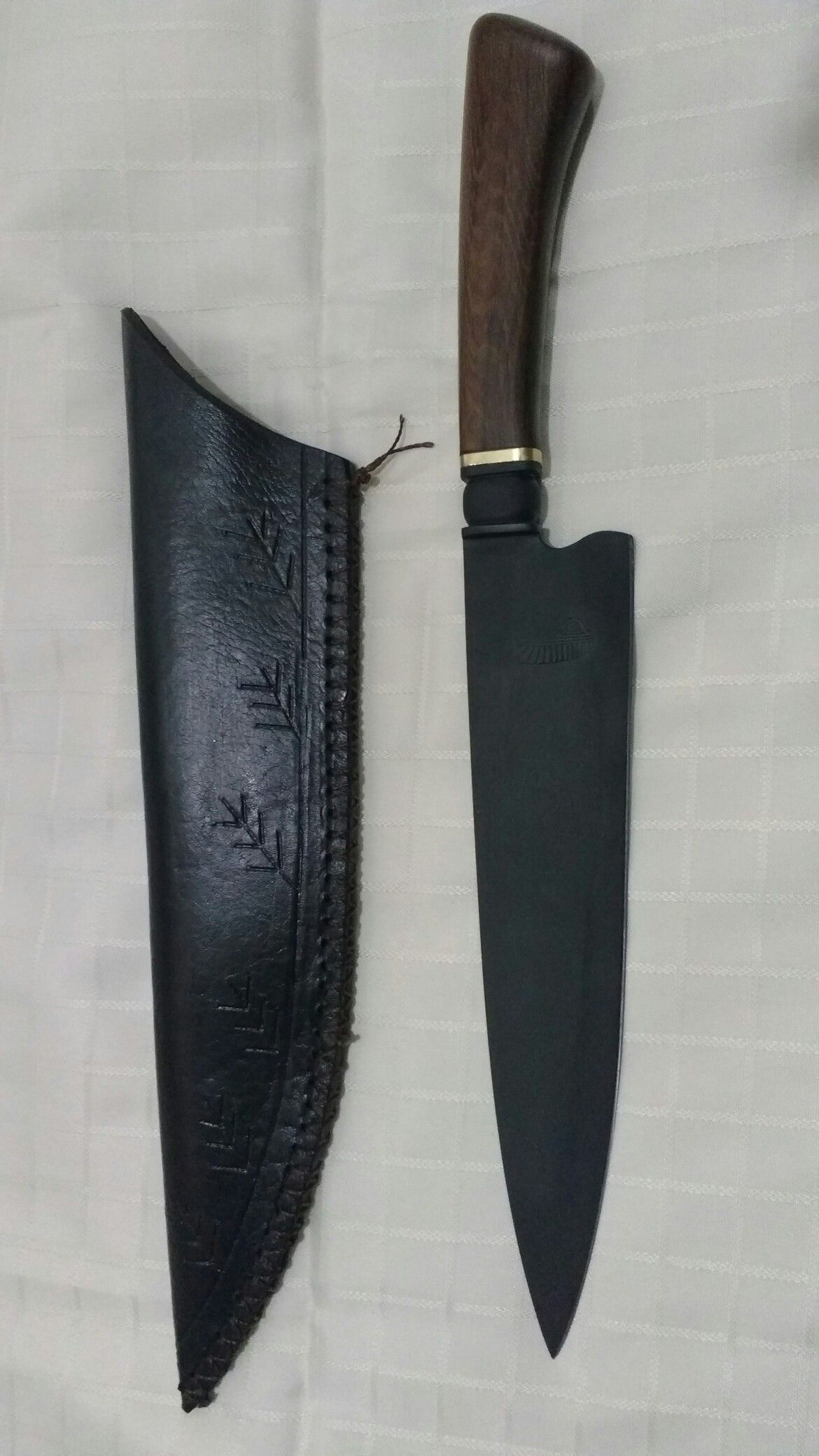 Hot Leathers 1089 Black 1 fixed blade,hunting knife,outdoor,camping