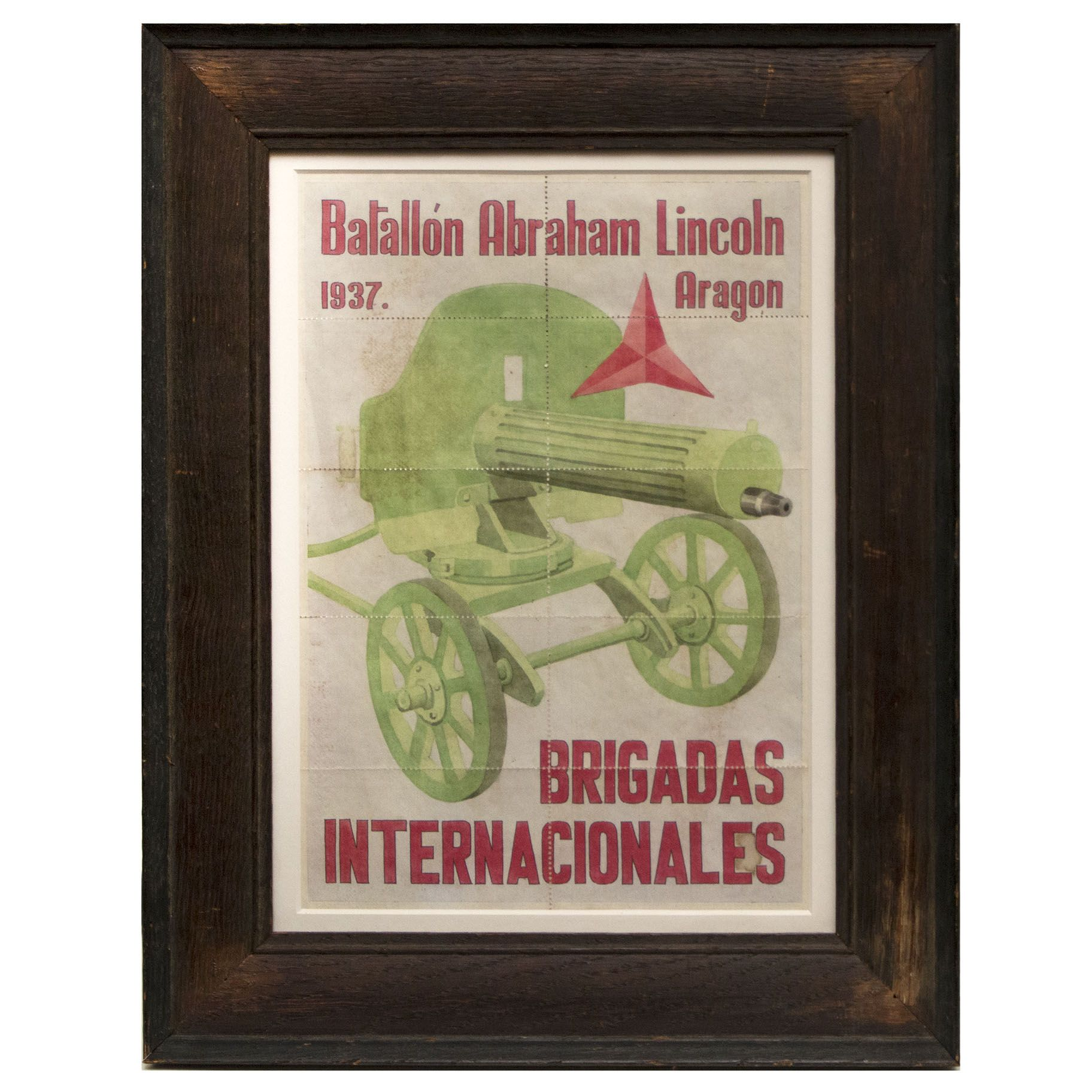 Framed Sheet Of Ration Coupons From The Spanish Civil War