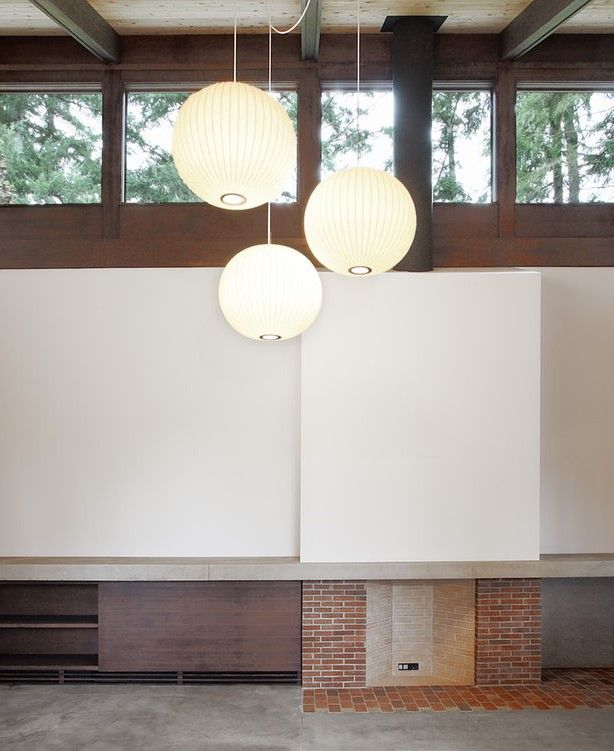 Photo by Mark Woods via Dwell | George Nelson Ball Pendant Lamps | http:/