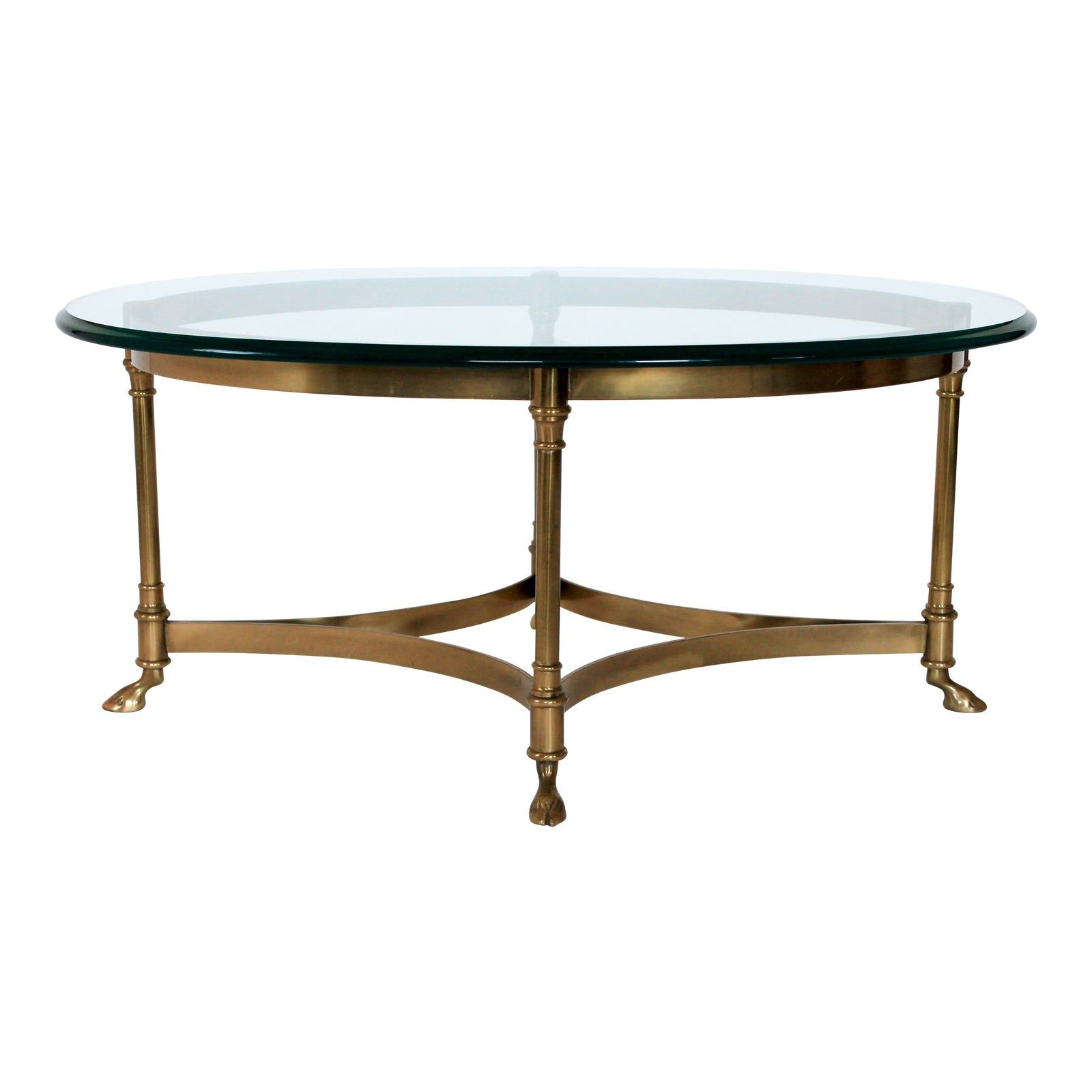 Petite Labarge Brass Glass Coffee Table Chairish Coffee Table Brass Coffee Table Table [ jpg ]