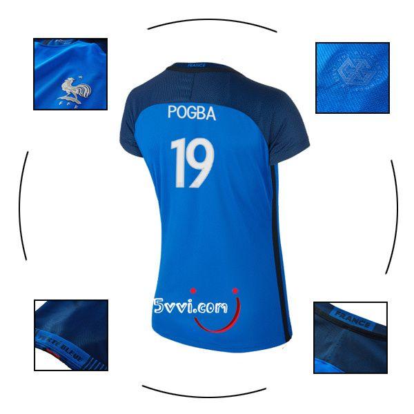 Acheter flocage maillot POGBA france femme 2016 euro domicile pas chere