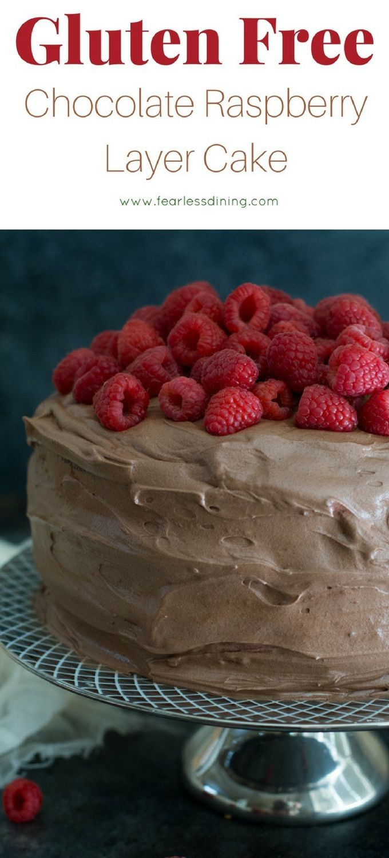 Groovy Gluten Free Chocolate Raspberry Layer Cake Recipe Gluten Free Funny Birthday Cards Online Drosicarndamsfinfo