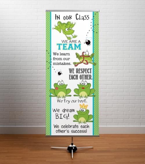 Bulletin Board Ideas With Frogs: FROGS - Classroom Decor: LARGE BANNER, In Our Class