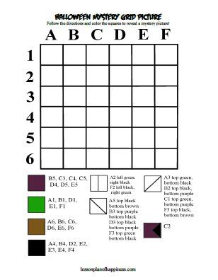 Witch Hat Mystery Grid Free Halloween Printable
