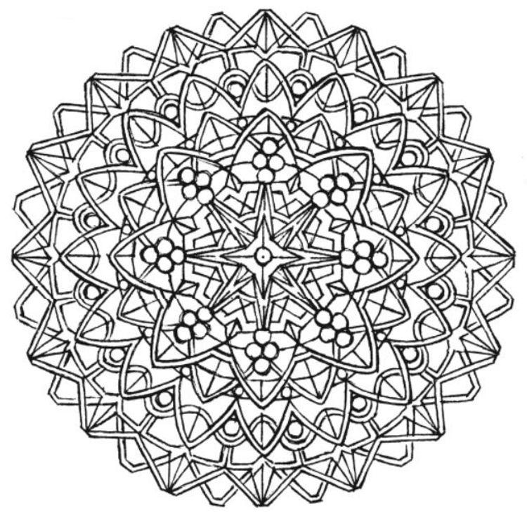 Mandala 704, Creative Haven Kaleidoscope Designs Coloring ...