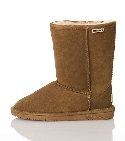 """BEAR PAWS Suede upper Exposed stitching Sheep skin lining. True to size. Suede. Brown 608W\"""" />"""