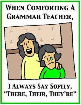 Funny Grammar Poster for your classroom! Check out the link to my ...