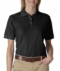 UltraClub Cool /& Dry Womens Easy-Care Knit Polo Shirt
