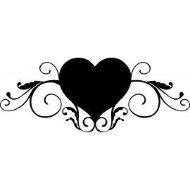 sticker arabesque coeur pochoirs arabesques arabesques stencils pinterest arabesque. Black Bedroom Furniture Sets. Home Design Ideas