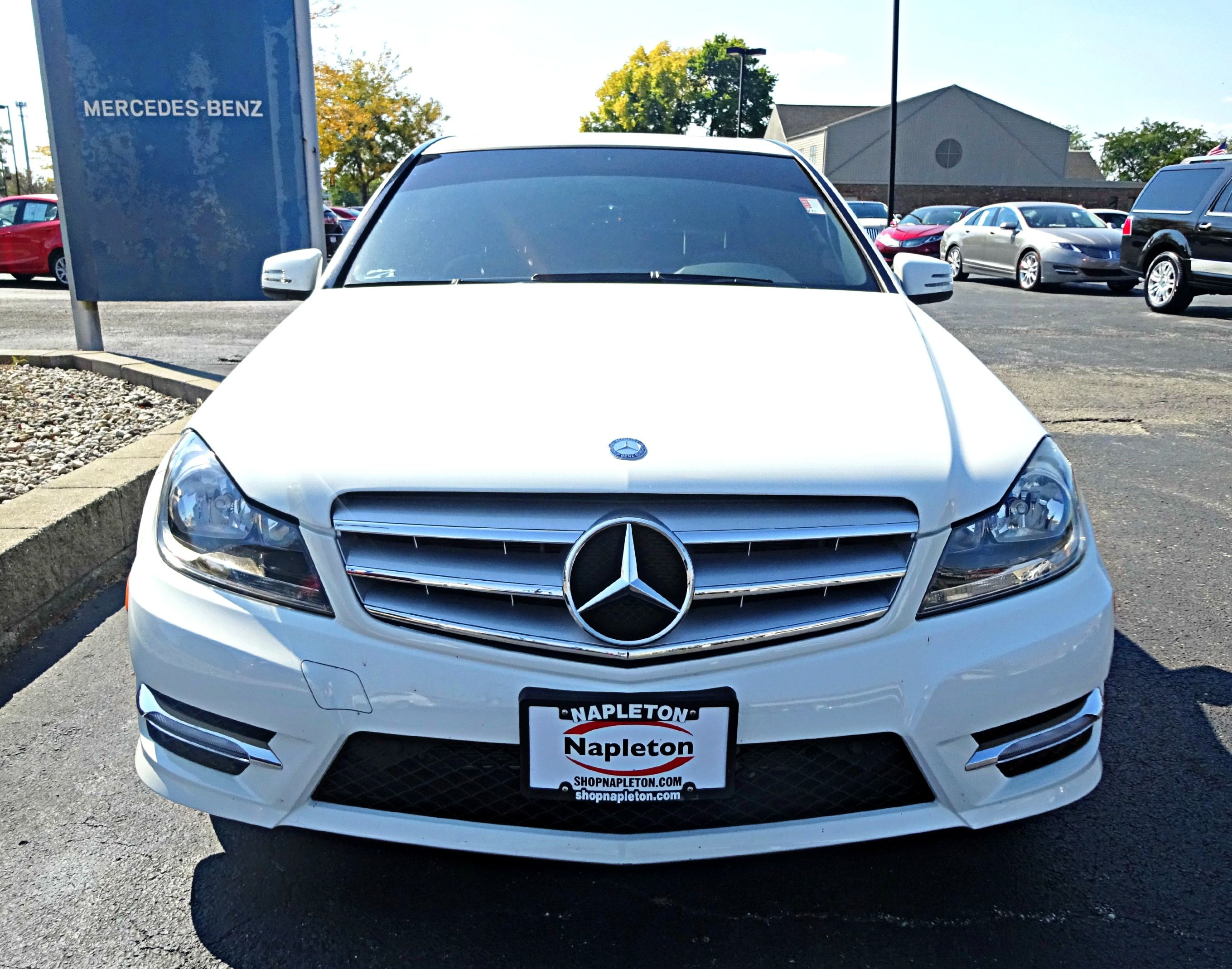 Used 2012 mercedes benz c class c300 sport in arctic white for 2012 mercedes benz c300