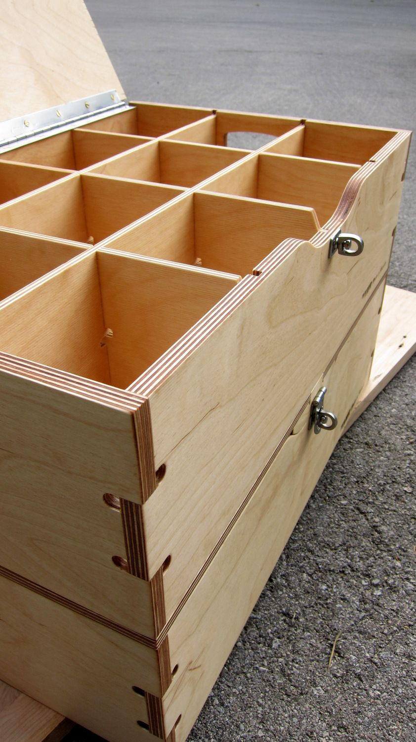Locking And Stacking Storage Crate For A Client Of