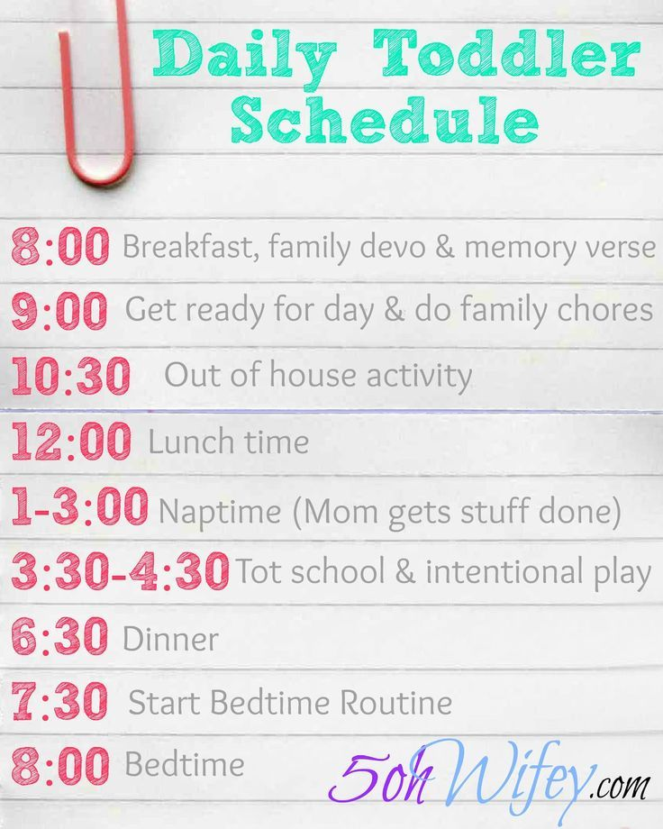 Setting A Daily Routine Toddler Schedule Daily Toddler Schedule
