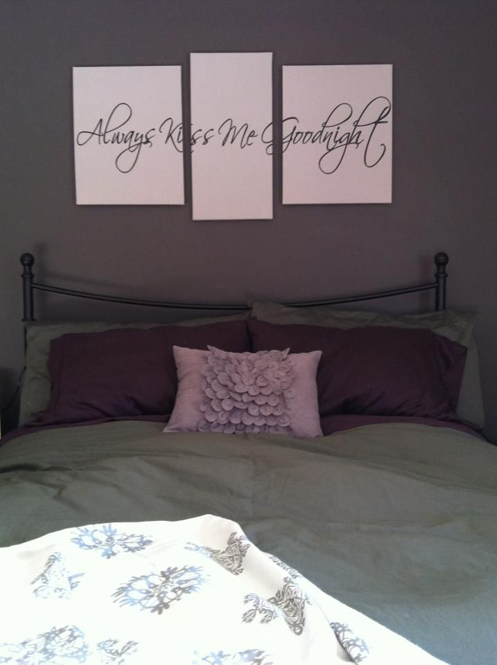 Art project time! Vinyl wall art + canvas = gorgeous! I love my ...