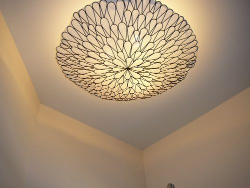 Attractive Cool Idea, Wall Hanging Turned Into Light Cover.
