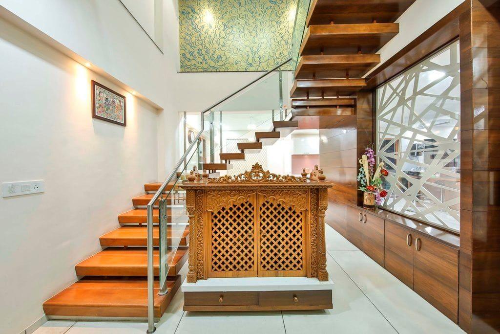 20 Mandir Designs For Indian Homes Our Best Picks Why | Staircase Designs For Indian Homes | Granite | New | Beautiful | Cheap | Steel