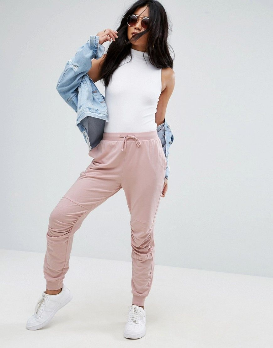 low priced unique design search for authentic ASOS Jogger With Ruched Detail - Pink | Cute outfits in 2019 ...