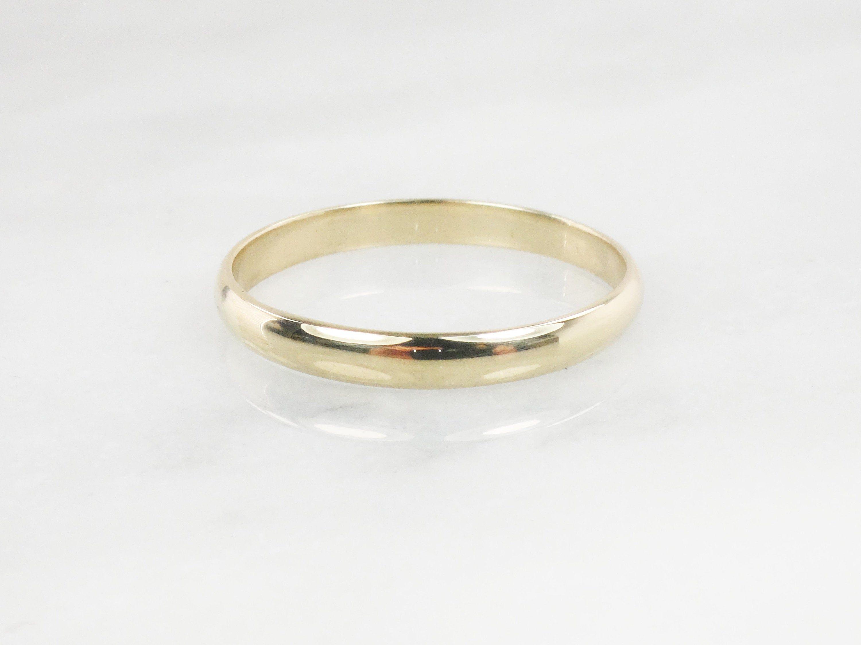 Vintage 18k Yellow Gold Wedding Band Stacking Ring Vintage