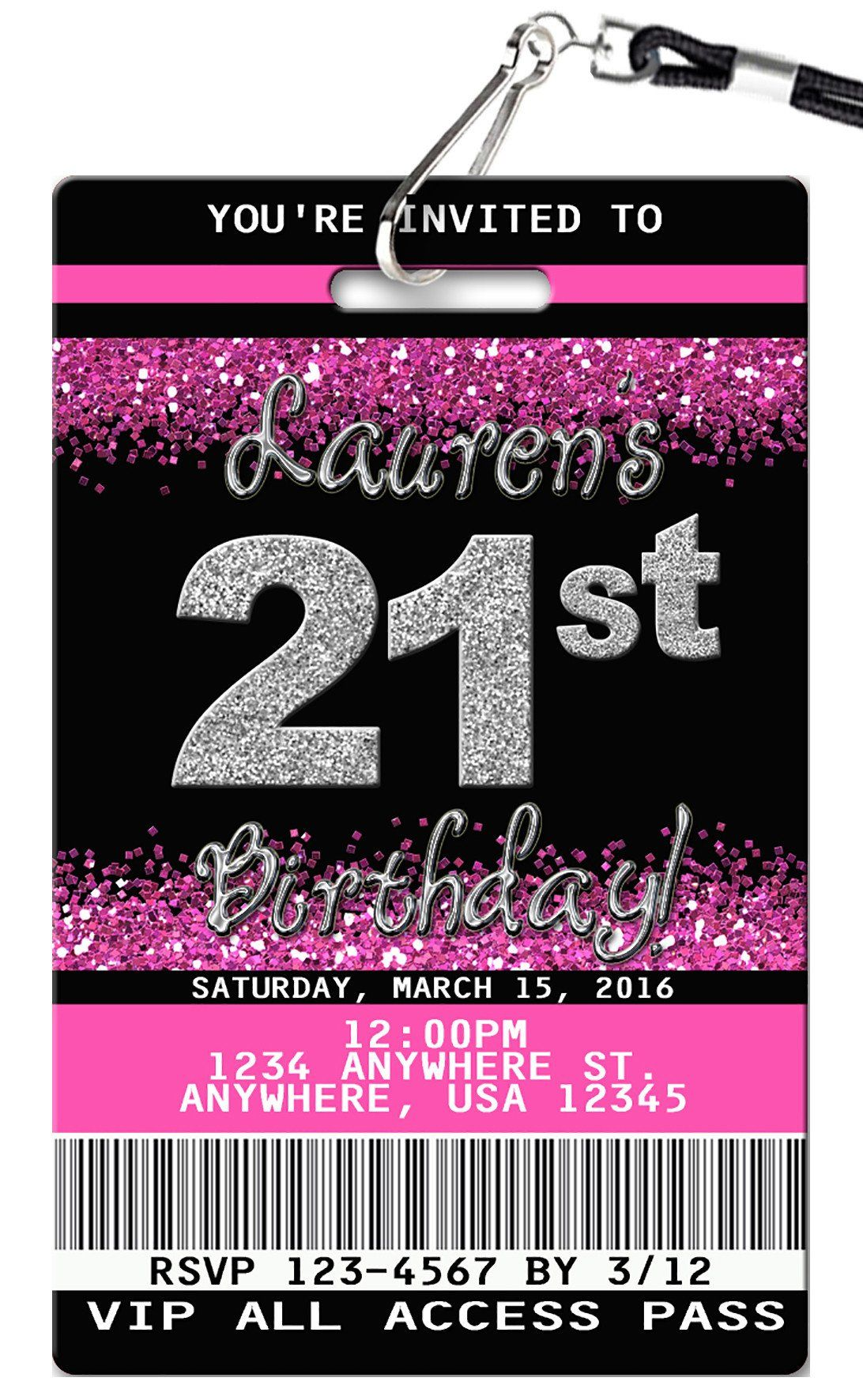 21st birthday invitation in 2018 21st birthday pinterest