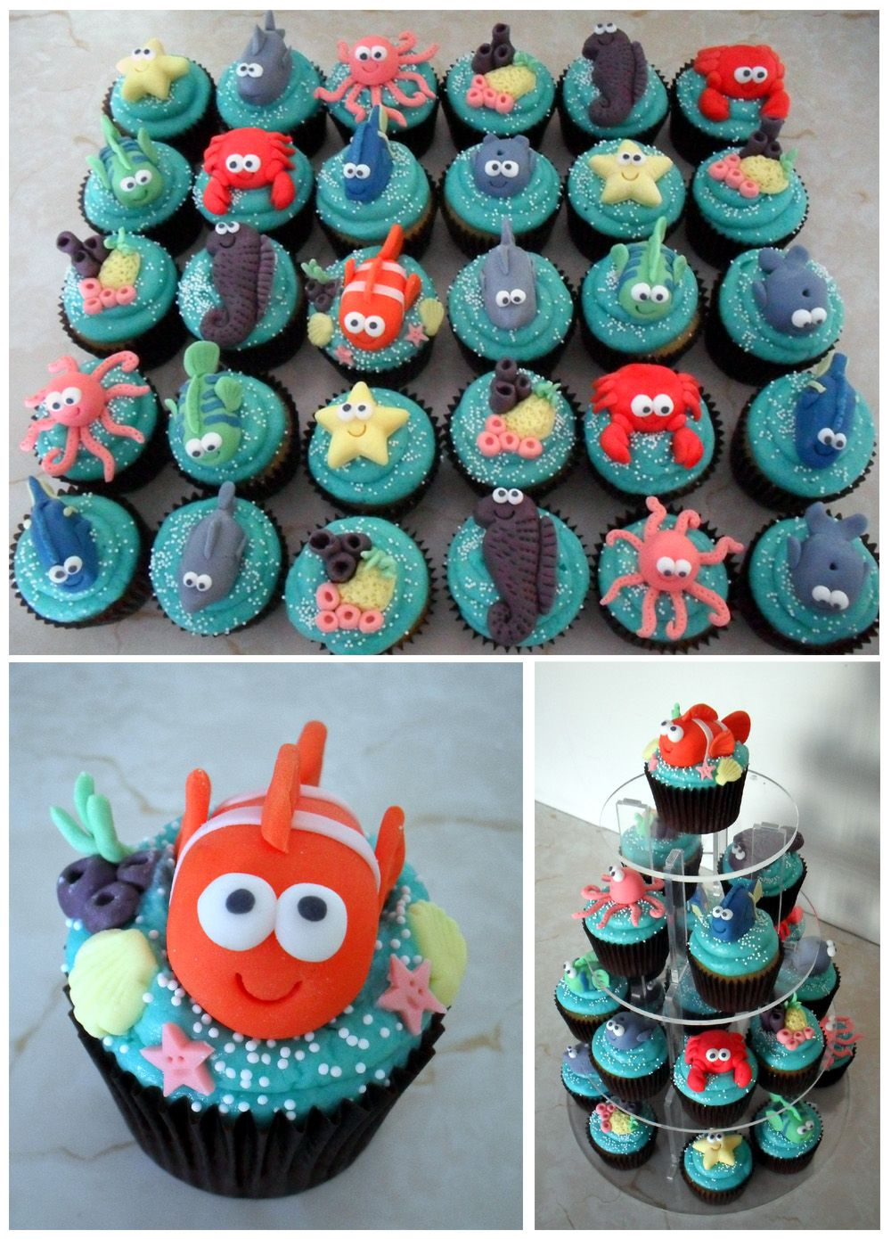 Sprinkles & Crumbs: Under the sea themed cupcakes