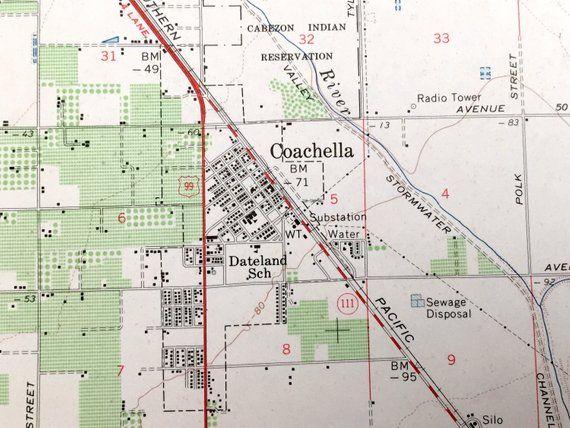 Antique Coachella, California 1956 US Geological Survey