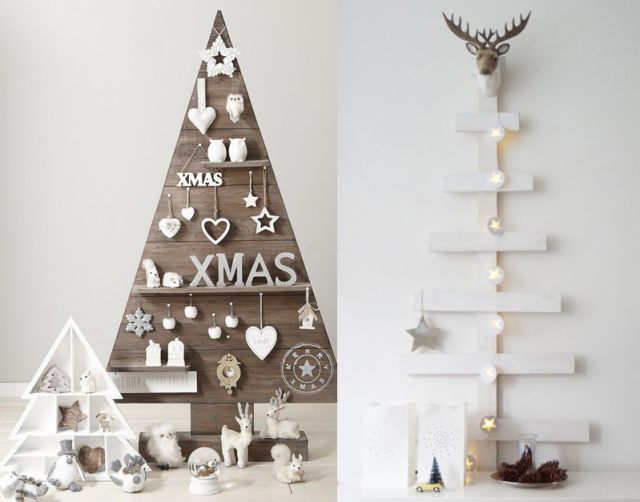 12 inspirations pour un sapin de no l en bois christmas deco noel and xmas