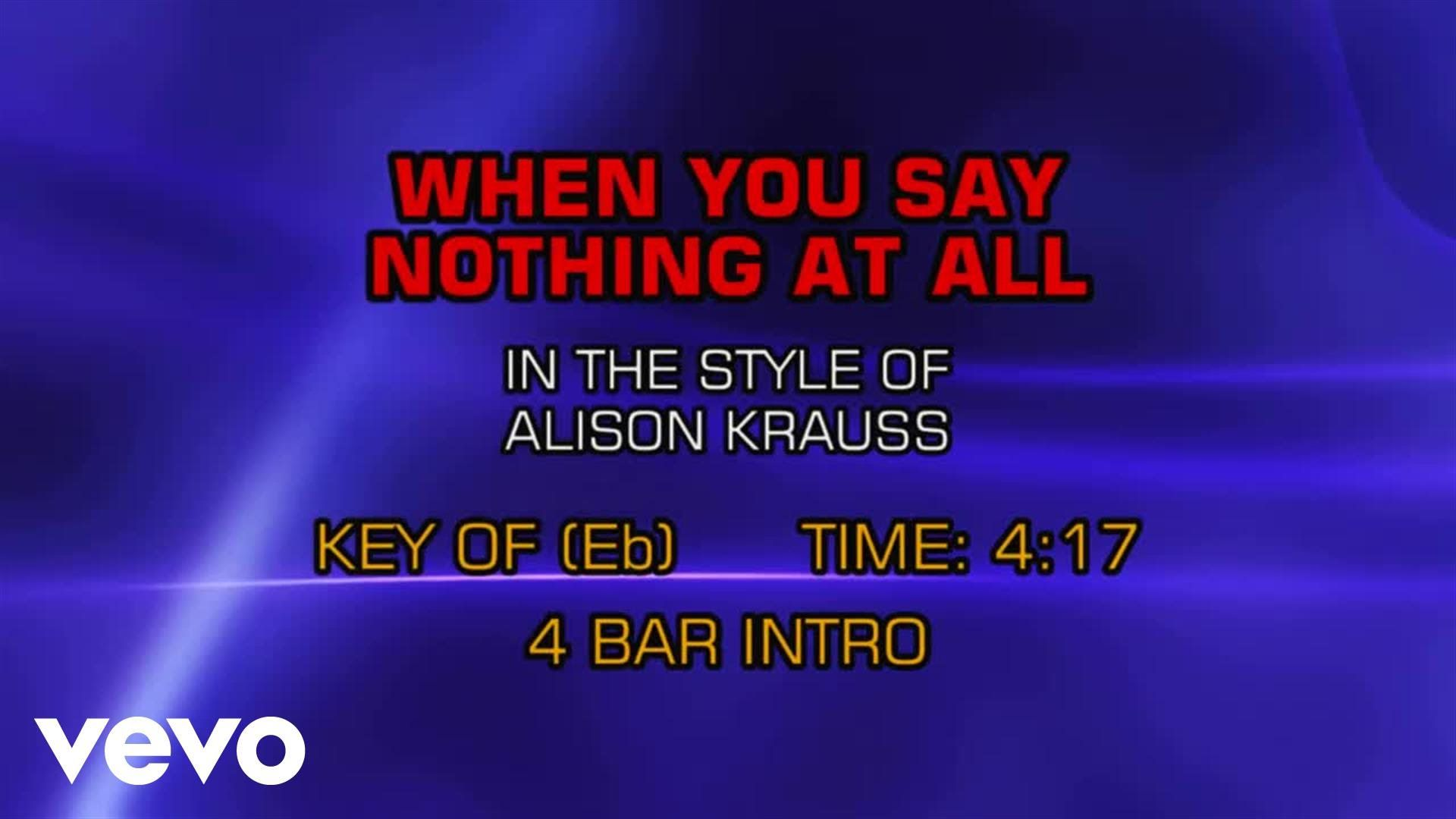 Alison Krauss Union Station When You Say Nothing At All