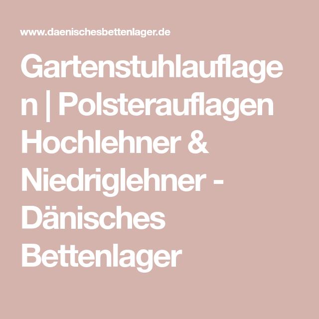 Gartenstuhlauflagen Polsterauflagen Hochlehner Niedriglehner