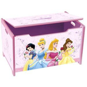 Disney Princess Toy Box For Bigger Toys Of Course Pink Toy Box Disney Princess Bedroom Princess Toys
