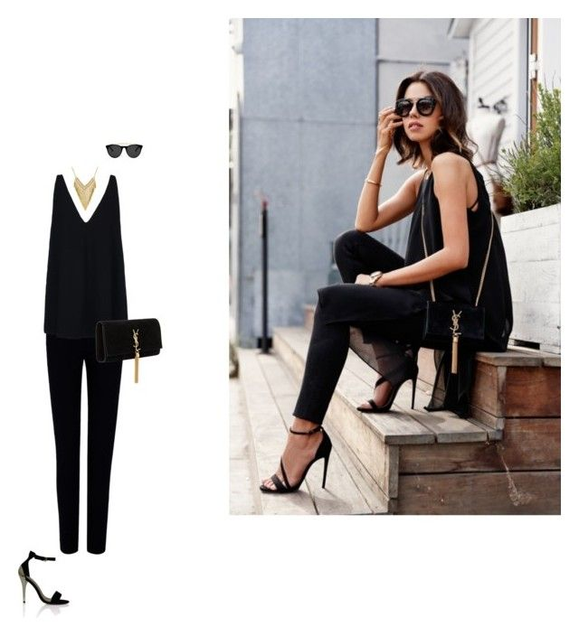 """""""A Hint of Pure Gold"""" by jaa-basmajian on Polyvore featuring Joseph, STELLA McCARTNEY, Yves Saint Laurent and Smoke & Mirrors"""