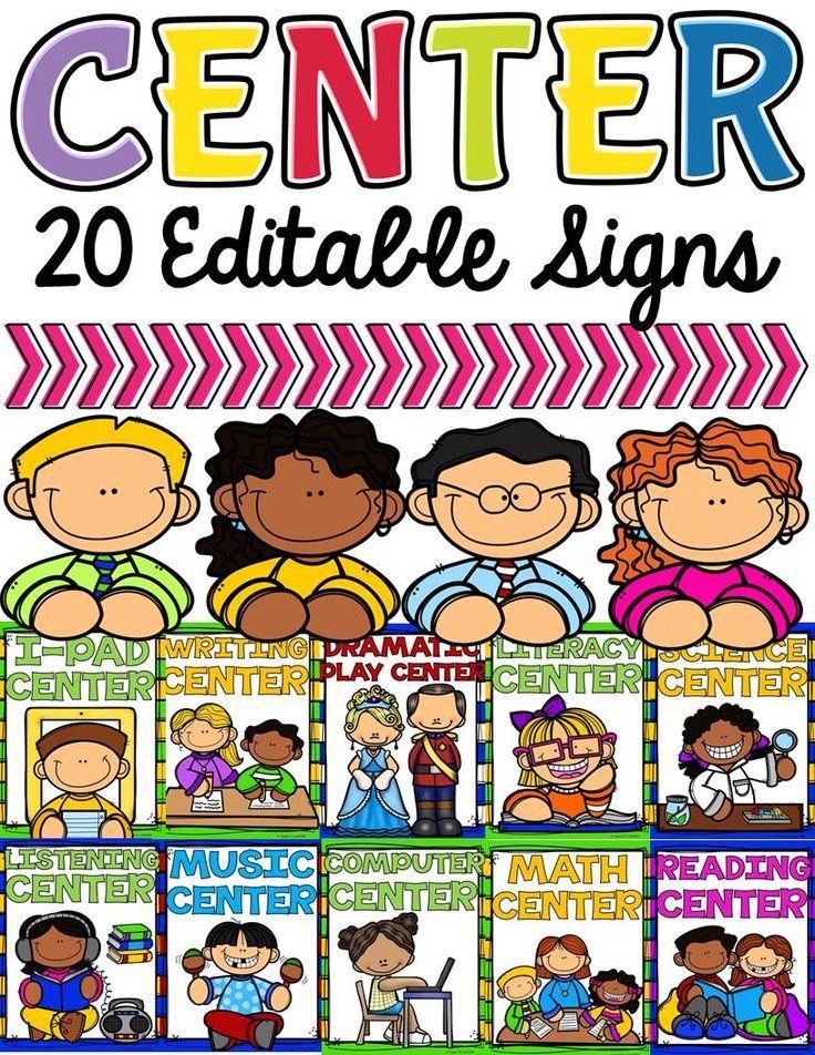 CLASS DECOR CENTER SIGNS EDITABLE Love Those Links! Classroom