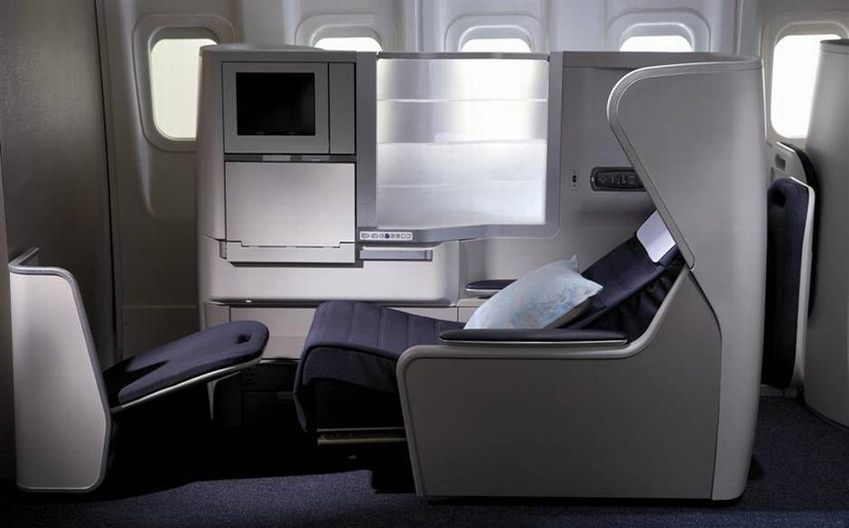 British Airways' business-class seat