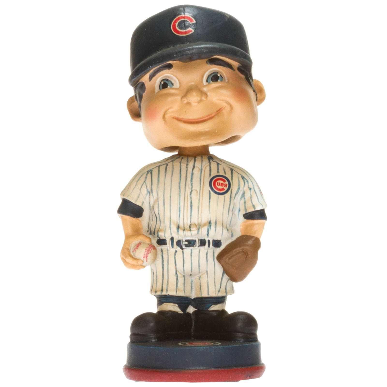 Chicago Cubs Vintage Pinstripe Uniform Bobble Head by