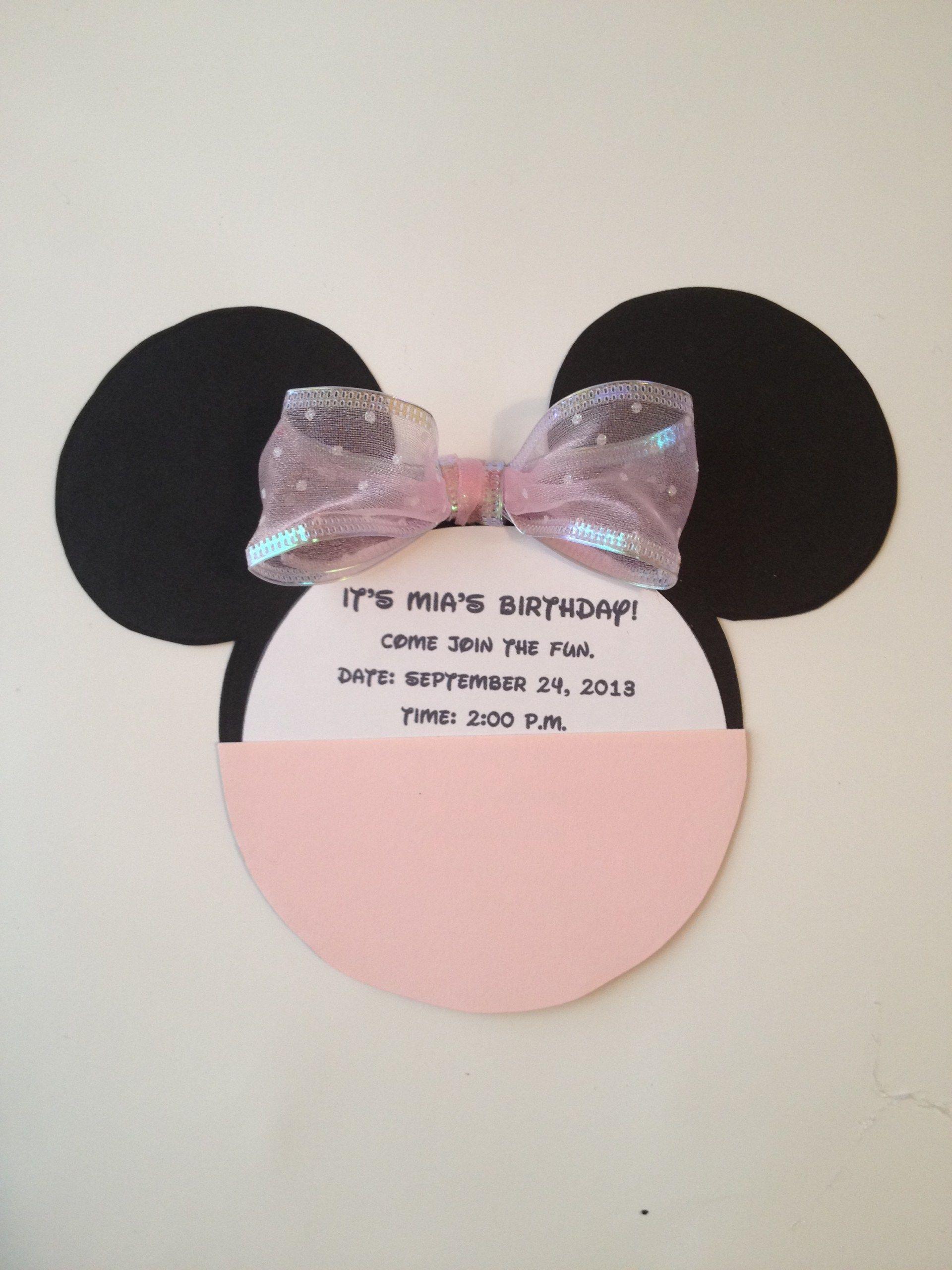 Minnie Mouse Ears Template For Invitations Invitationsjdi
