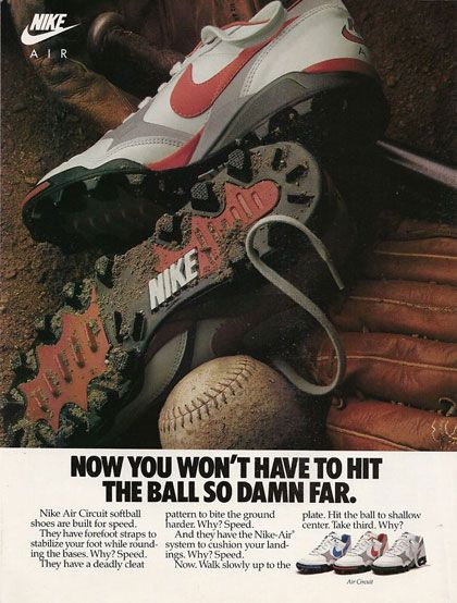 Not That It Went That Far Before Nike Ad Vintage Nike Nike Retro