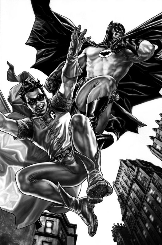 #Batman #And #Robin #Fan #Art. (Preview from Batman: Noel) By: Lee Bermejo. (THE * 5 * STÅR * ÅWARD * OF: * AW YEAH, IT'S MAJOR ÅWESOMENESS!!!™) ÅÅÅ+