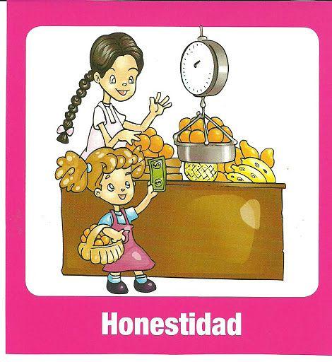 Honestidad En Dibujo Para Imprimir Valores Spanish Classroom