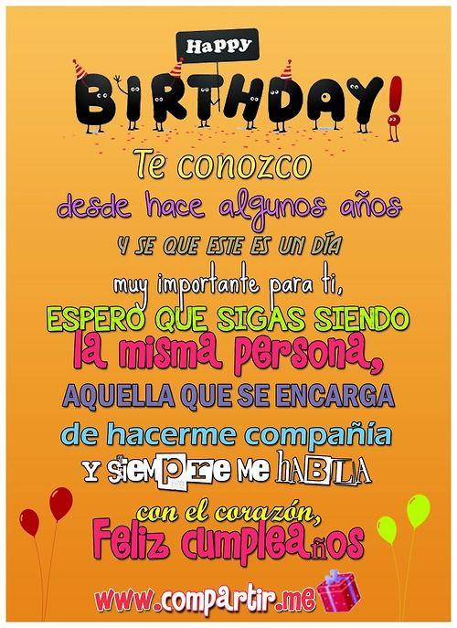 feliz cumpleaños para dedicar a una amigo o amiga