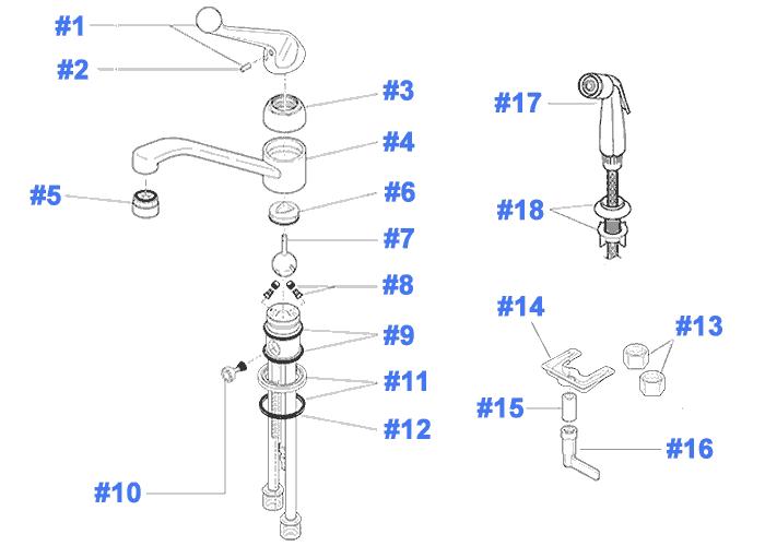 delta kitchen faucet replacement parts